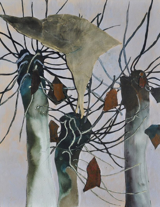 Big bird in trees, 2010