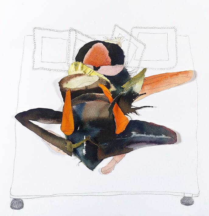 Amorous flies, 2005