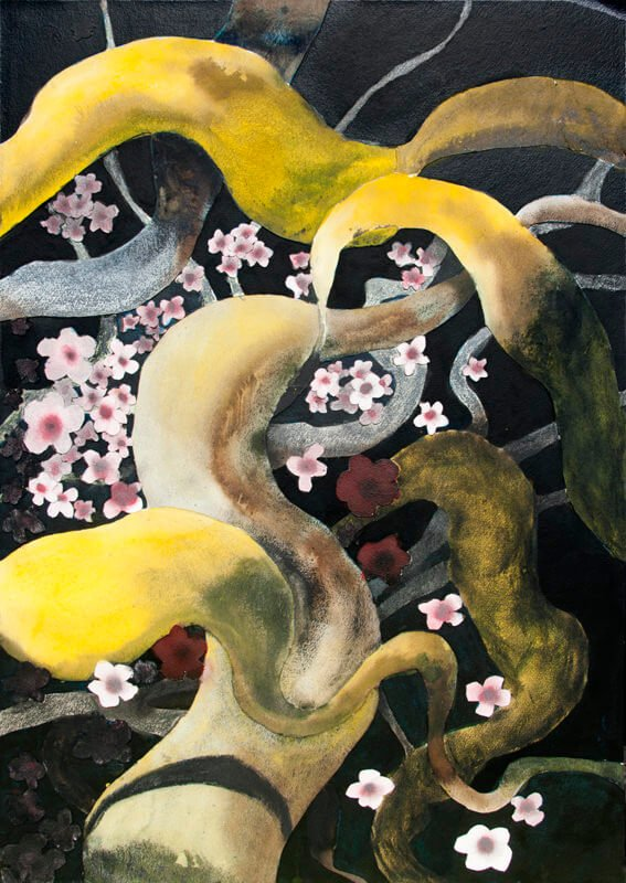 Cherry blossom, i (nihonga), 2019