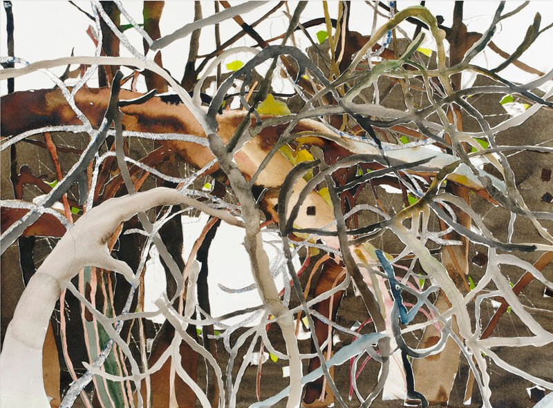 Silver branches in apple tree, ii, 2004